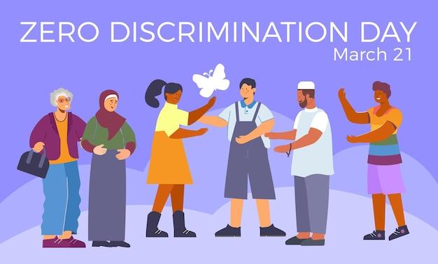 Tarjeta del día de cero discriminación