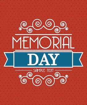 Tarjeta del día conmemorativo sobre fondo rojo ilustración vectorial