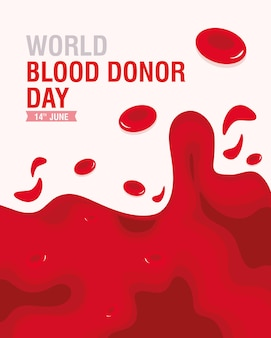 Tarjeta del día del donante de sangre