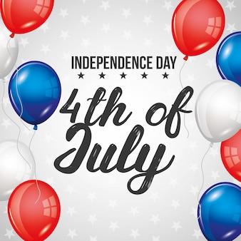 Tarjeta del día de la independencia