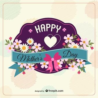 Tarjeta para el día de la madre con corazón