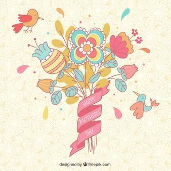 Tarjeta del día de madre floral