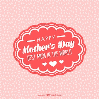 Tarjeta para el día de la madre sobre fondo rosa