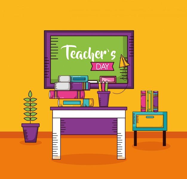 Tarjeta del día del maestro