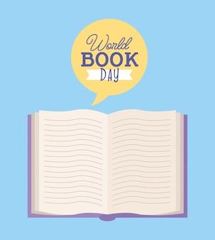 Tarjeta del día mundial del libro