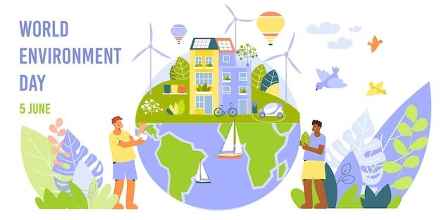 Tarjeta del día mundial del medio ambiente