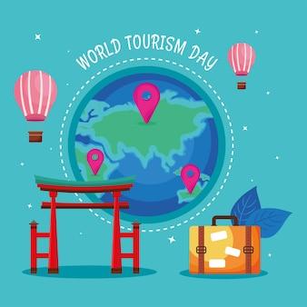 Tarjeta del día mundial del turismo