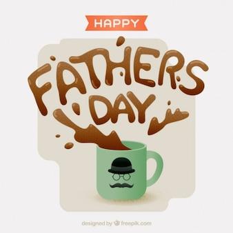 Tarjeta del día del padre con café