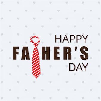 Tarjeta del día del padre con corbata rayada