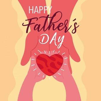 Tarjeta del dia del padre feliz