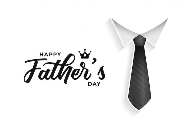 Tarjeta del día de padres feliz con corbata