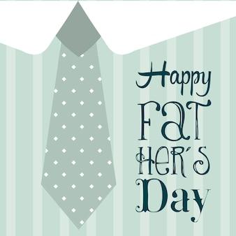 Tarjeta del día de padres sobre fondo azul ilustración vectorial