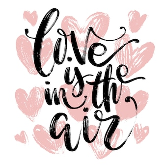 Tarjeta dibujada mano artística creativa. plantilla de amor