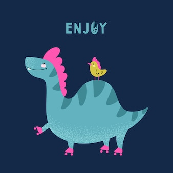 Tarjeta de dinosaurio