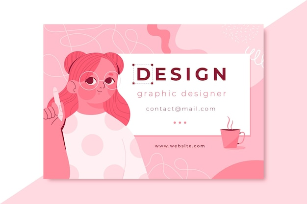 Tarjeta de diseño monocolor dibujado a mano