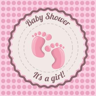 Tarjeta de ducha de bebé invitación feliz