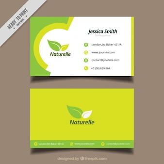 Tarjeta ecológica con hojas