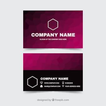 Tarjeta elegante abstracta corporativa