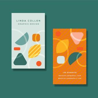Tarjeta de empresa colorida con diferentes formas