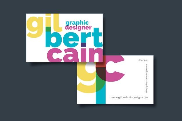 Tarjeta de empresa graciosa diseñadora gráfica
