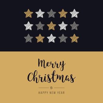 Tarjeta de estrellas de navidad