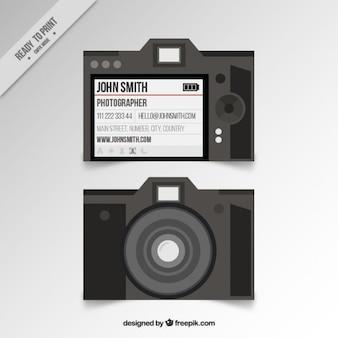 Tarjeta de estudio de foto en diseño plano