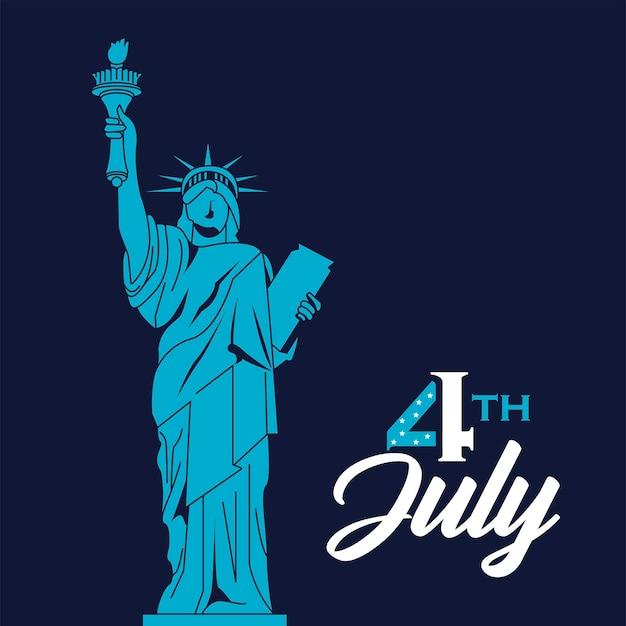 Tarjeta de felicitación del 4 de julio