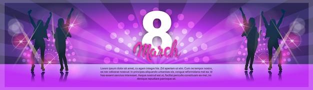 Tarjeta de felicitación del 8 de marzo día internacional de la mujer