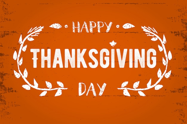 Tarjeta de felicitación de acción de gracias feliz día de acción de gracias letras ilustración de texto.