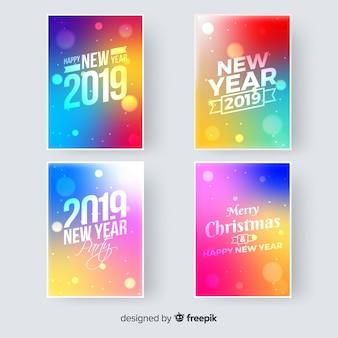 Tarjeta de felicitación de año nuevo 2019