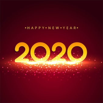 Tarjeta de felicitación de año nuevo 2020 colorido abstracto