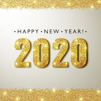 Tarjeta de felicitación de año nuevo 2020