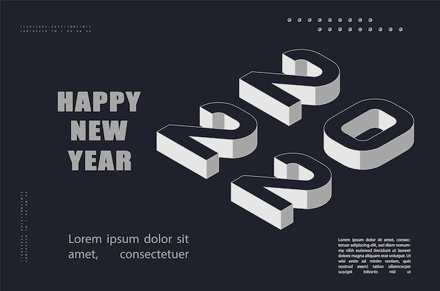Tarjeta de felicitación de año nuevo 2022