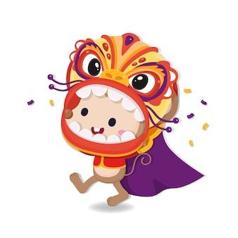 Tarjeta de felicitación de año nuevo chino. feliz año de ratas.