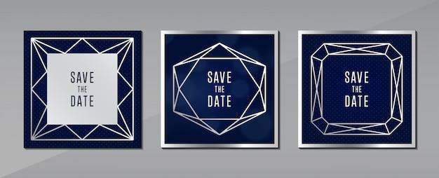 Tarjeta de felicitación azul gris fondo concepto de joyería