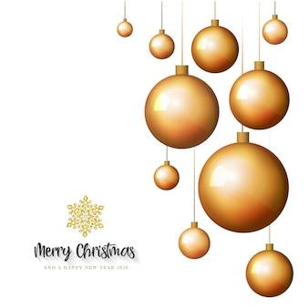 Tarjeta de felicitación blanca feliz navidad