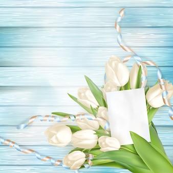 Tarjeta de felicitación en blanco