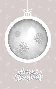 Tarjeta de felicitación de bola de navidad
