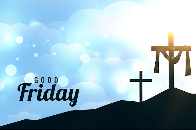Tarjeta de felicitación brillante del día de viernes santo