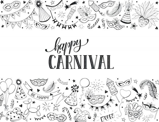 Tarjeta de felicitación de carnaval