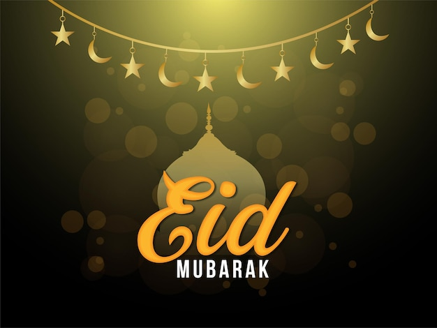 Tarjeta de felicitación de celebración del festival islámico eid mubarak