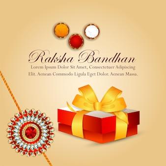 Tarjeta de felicitación de celebración de raksha bandhan feliz festival indio