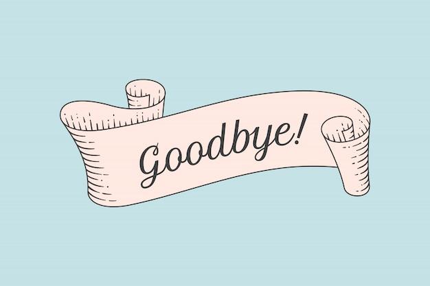 Tarjeta de felicitación con cinta y palabra bienvenida