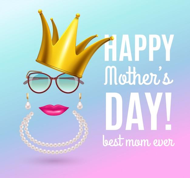 Tarjeta de felicitación de composición del día de las madres