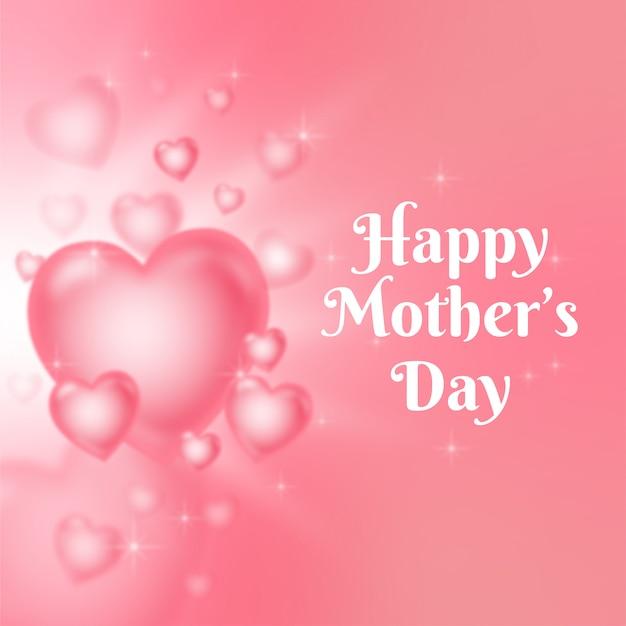 Tarjeta de felicitación de corazones para el día de la madre