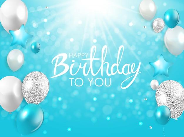 Tarjeta de felicitación de cumpleaños feliz