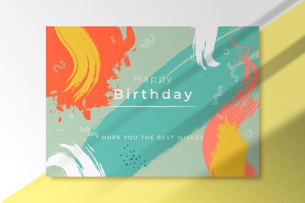 Tarjeta de felicitación de cumpleaños de formas abstractas