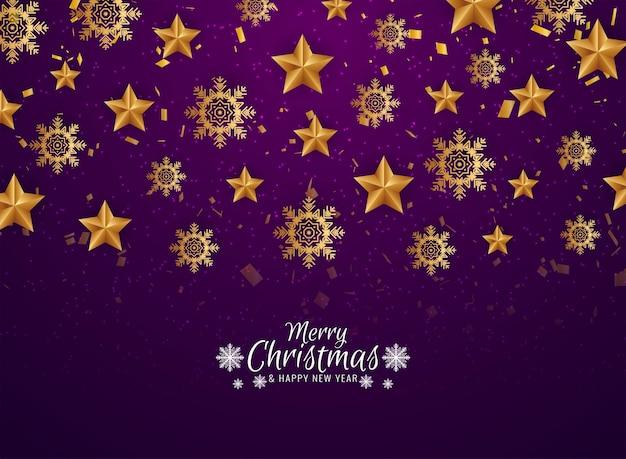 Tarjeta de felicitación decorativa de celebración de feliz navidad