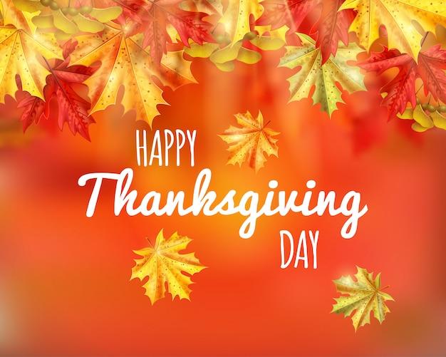 Tarjeta de felicitación del día de acción de gracias con feliz día de acción de gracias