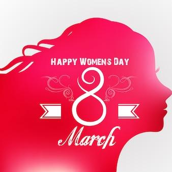Tarjeta de felicitación del día feliz de las mujeres